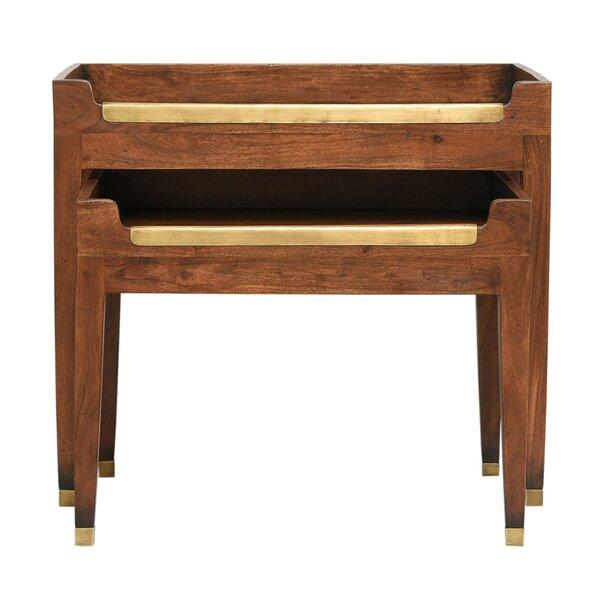 University Club 2 Piece Nesting Tables by Sarreid Ltd