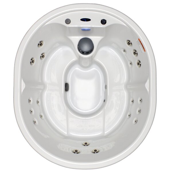 5-Person 21-Jet Plug and Play Spa with Stainless Jets and Underwater LED Light by Hudson Bay Spas