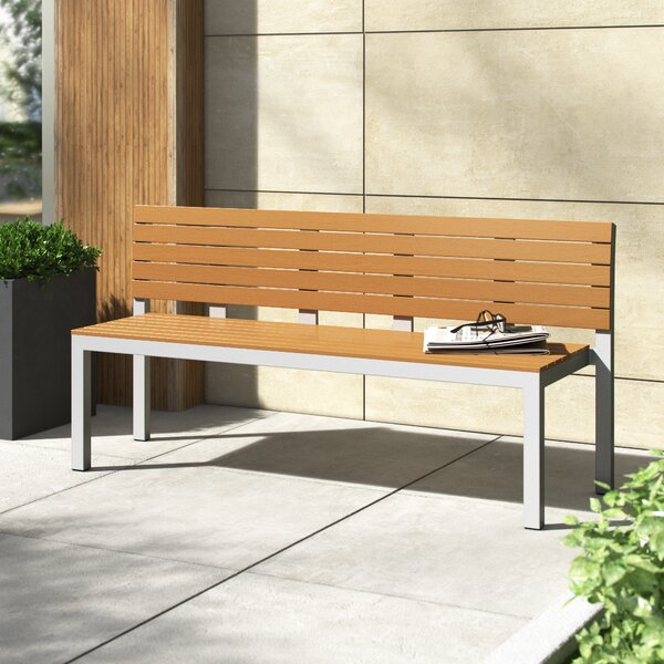 Vienna High-Back Aluminum Garden Bench by Source Contract