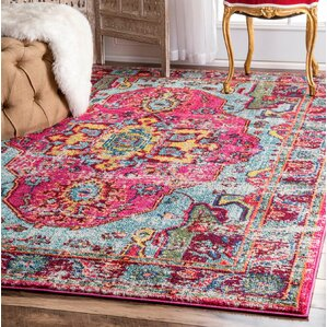 aliyah pink area rug