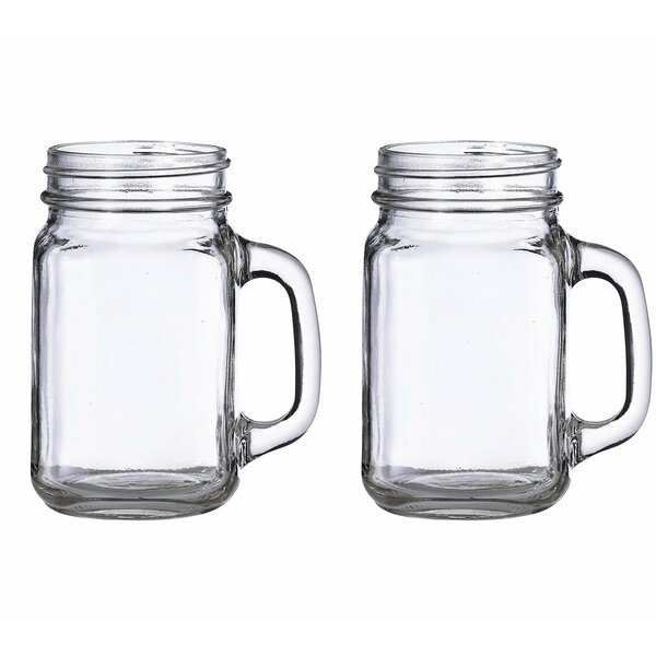 16 Oz. Mason Jar Mug (Set of 2) by Lillian Rose