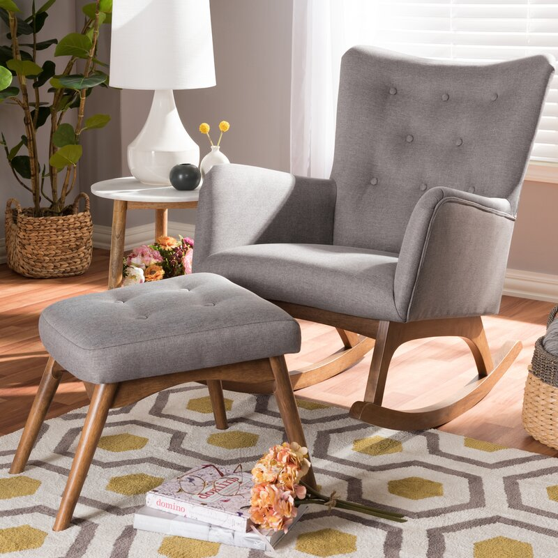 george oliver centreville rocking chair with ottoman wayfair