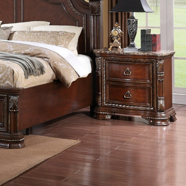 Fergus 2 Drawer Nightstand by Astoria Grand