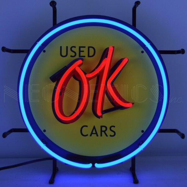 Ok Used Cars Wall Light by Ebern Designs