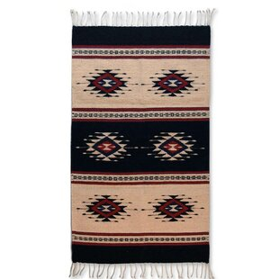 Artisan Crafted Unique Geometric U0027Sixth Sunu0027 Hand Woven Mexican Naturally  Dyed Wool Home Decor Area Rug