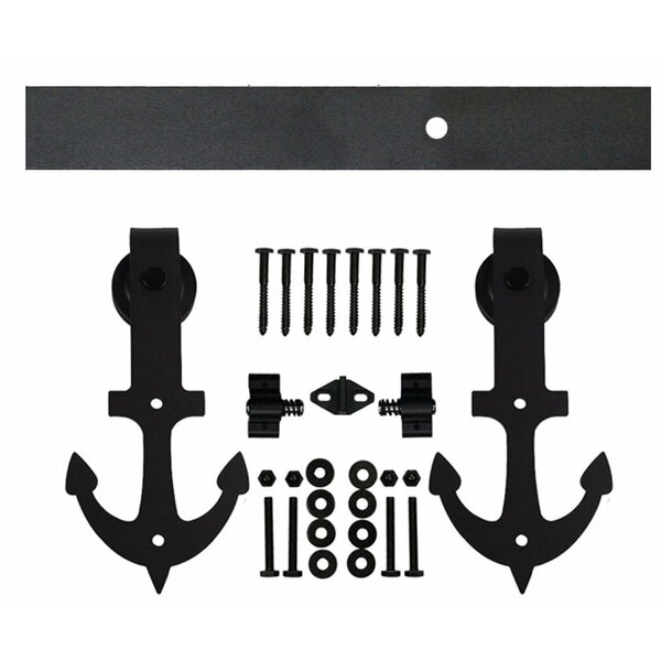 Double Anchor Sliding Barn Door Hardware by Vancleef