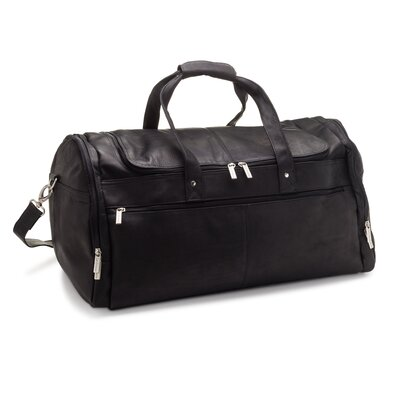 Black Le Donne Leather Voyager Duffel