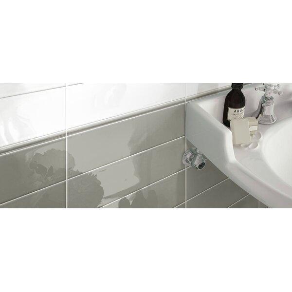 Hudson 4 x 12 Ceramic Subway Tile in Glossy Grey by Walkon Tile