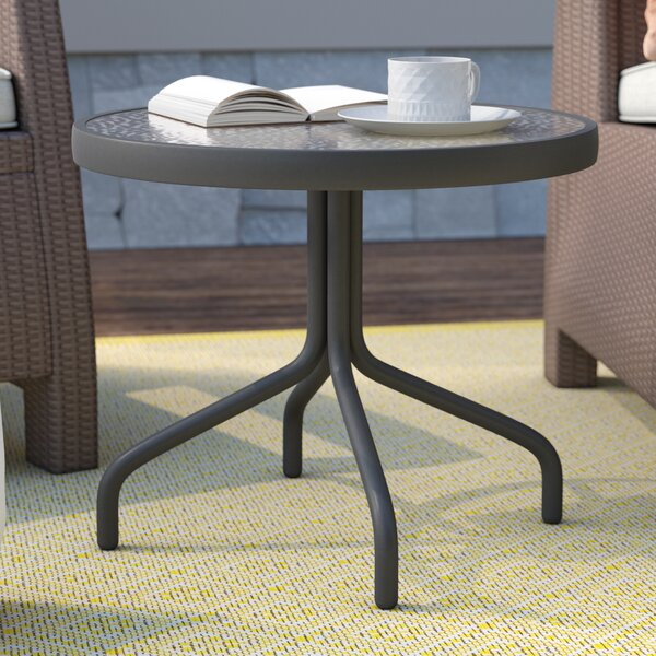 Ramon Glass Side Table by Latitude Run