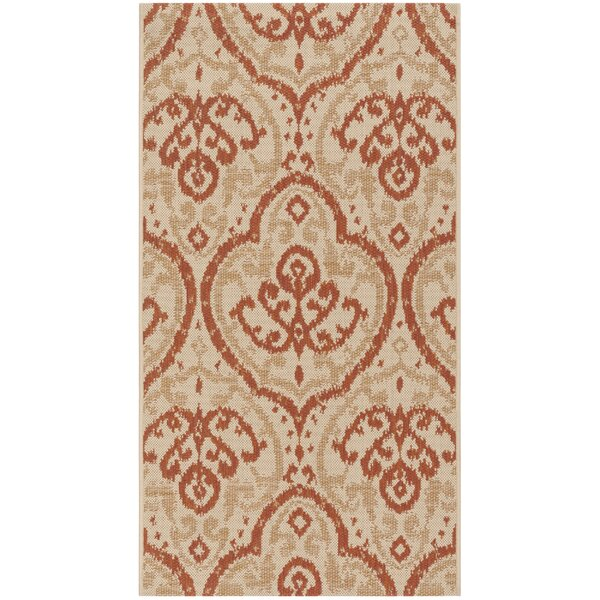 Fairview Beige/Terracotta Area Rug by Martha Stewart Rugs
