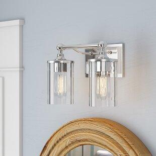 Read Reviews Hague 2-Light Vanity Light ByBeachcrest Home