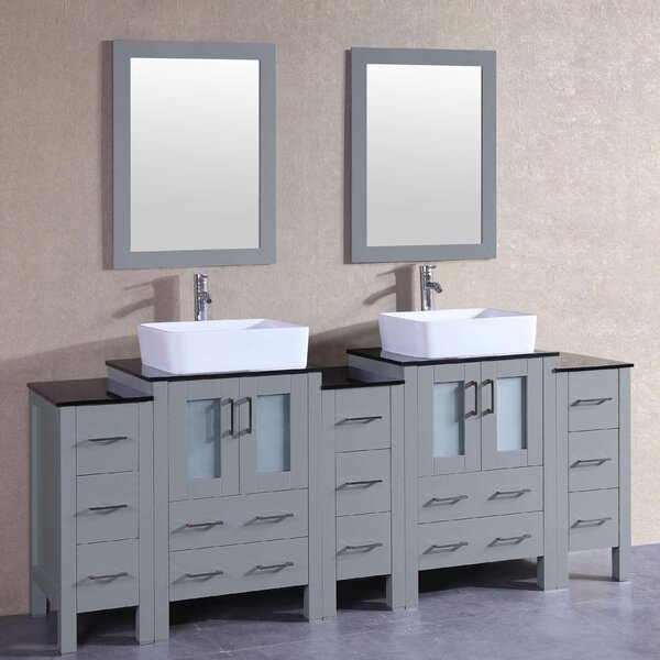 Winterfell 84 Double Bathroom Vanity Set with Mirror by Bosconi