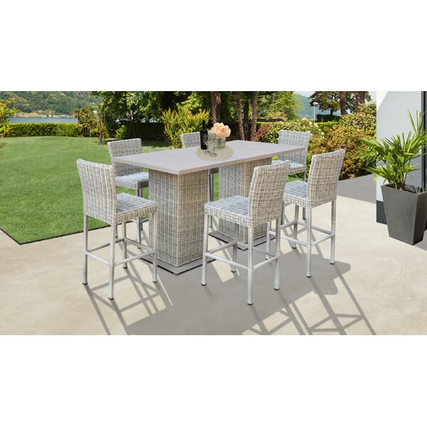 Claire 8 Piece Bar Height Dining Set by Rosecliff Heights