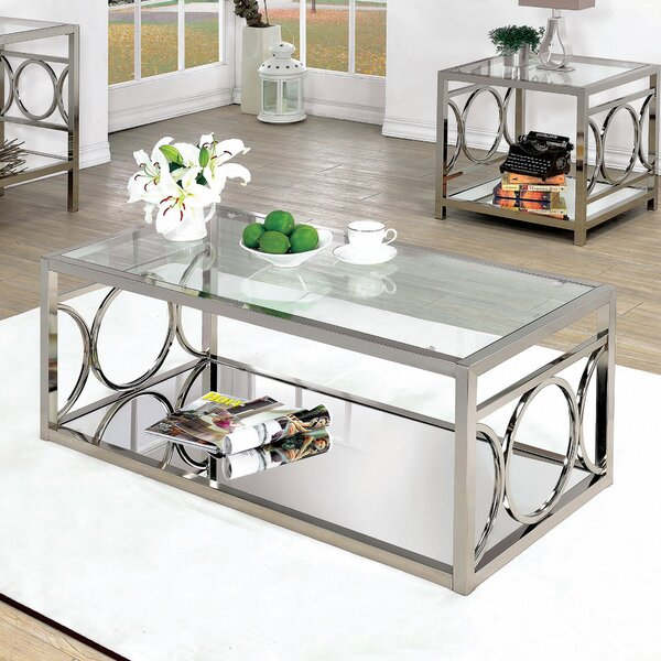 Frederika Floor Shelf Coffee Table with Storage by Willa Arlo Interiors Willa Arlo Interiors