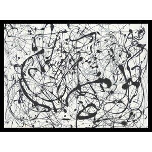 'No. 14: Gray' by Jackson Pollock Framed Painting Print by Mercury Row