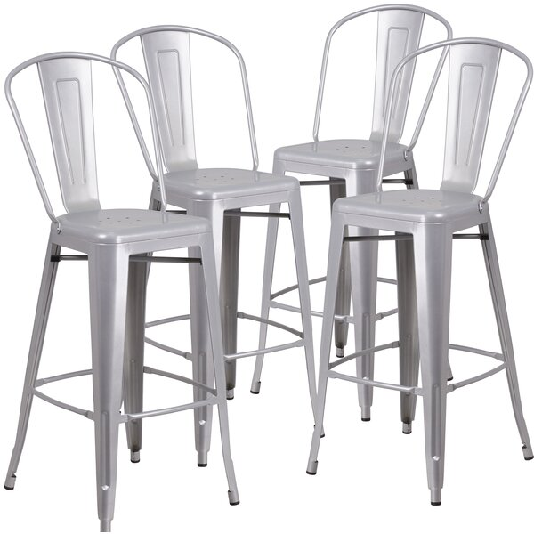 Siping 30.25'' Bar Stool (Set of 4) by 17 Stories