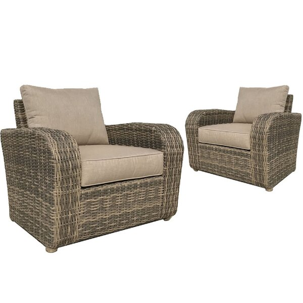 Desalvo Patio Chair with Sunbrella Cushions (Set of 2) by Highland Dunes