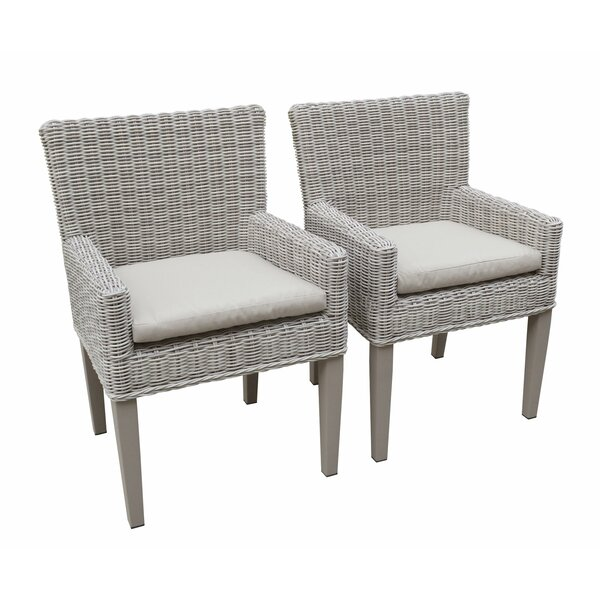 Sebrina Patio Dining Chair with Cushion (Set of 2) by Breakwater Bay