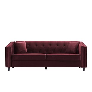 Amberwood Classic Living Room Couch Sofa with Tufted Buttons Alcott Hill