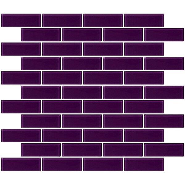 1 x 3 Glass Subway Tile in Lavender Purple by Susan Jablon