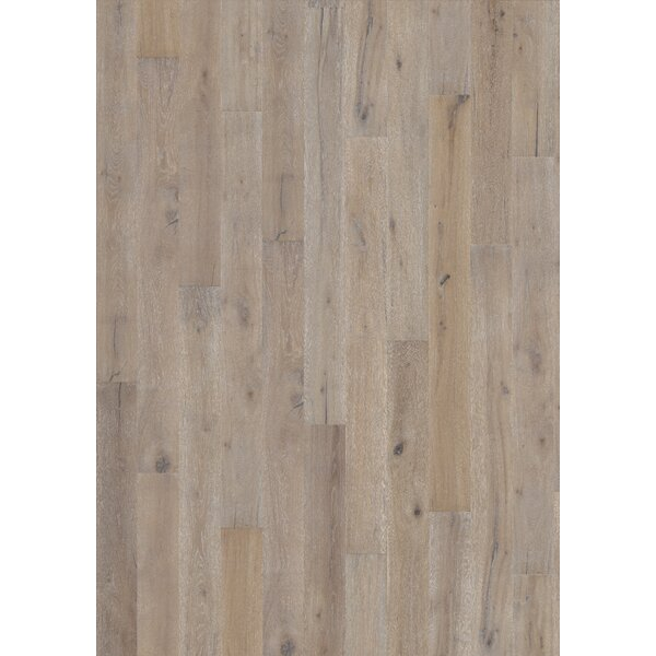 Woodloc Sweden 7-1/2 Engineered Oak Hardwood Flooring in Linen by Kahrs