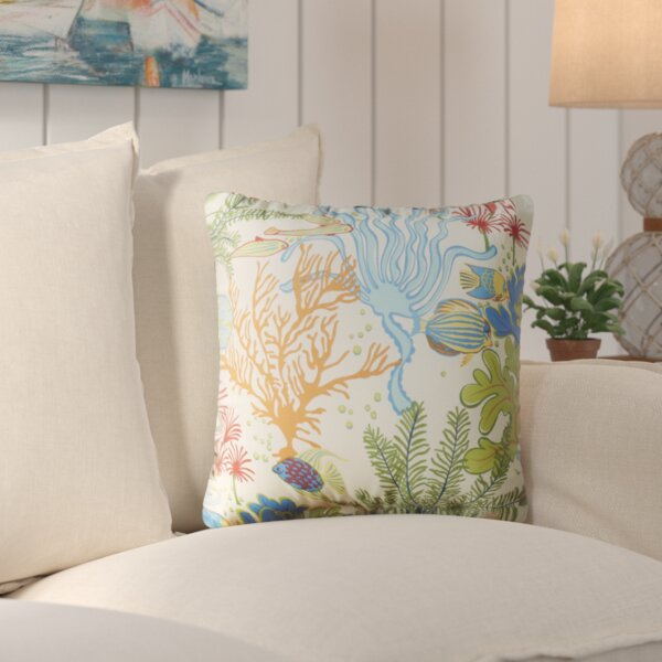 Evadne Square Indoor/Outdoor Throw Pillow (Set of 2) by Bayou Breeze