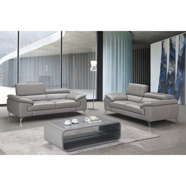 Mayer Leather Configurable Living Room Set by Orren Ellis Orren Ellis