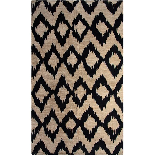 Chertsey Printed Navy Ikat Area Rug by World Menagerie