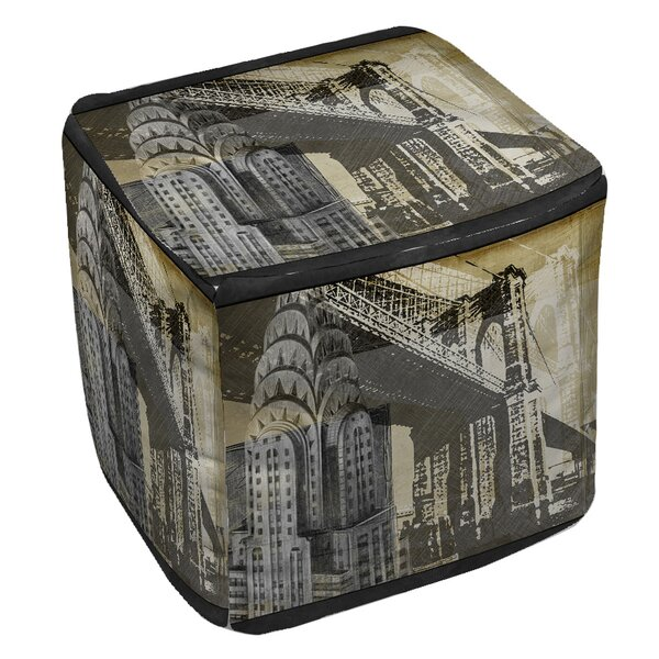 Metropolitan Collage 1 Pouf by Manual Woodworkers & Weavers