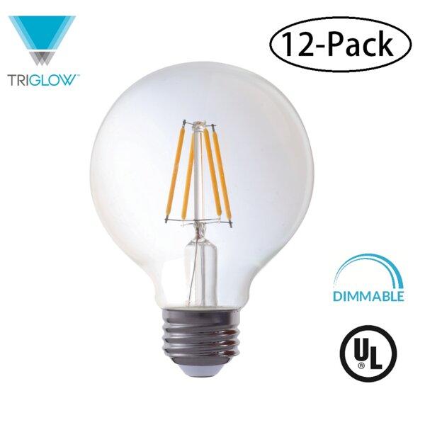 40W Equivalent E26 LED Globe Edison Light Bulb (Set of 12) by TriGlow