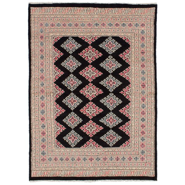 One-of-a-Kind Do Hand-Knotted Wool Black Area Rug by Isabelline
