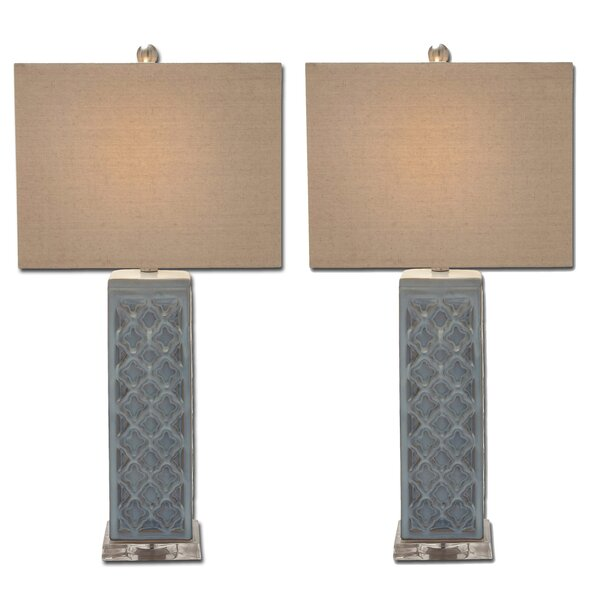 Trellis 30 Table Lamp (Set of 2) by Urban Designs