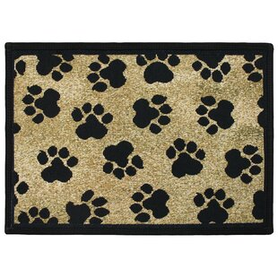 PB Paws U0026 Co. Gold World Paws Tapestry Area Rug
