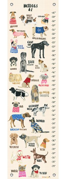 Davis Hot Dogs Canvas Growth Chart by Harriet Bee
