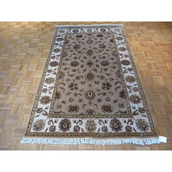 One-of-a-Kind Rhyne Hand-Knotted Taupe Area Rug by Astoria Grand