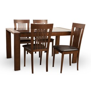 Arcadia 5 Piece Dining Set By Latitude Run