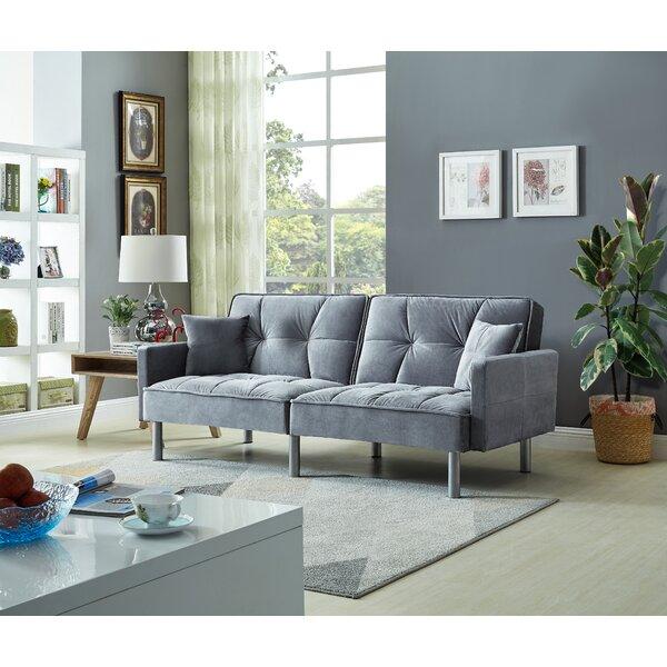 Hemphill Velvet Sleeper Sofa by Mercer41 Mercer41