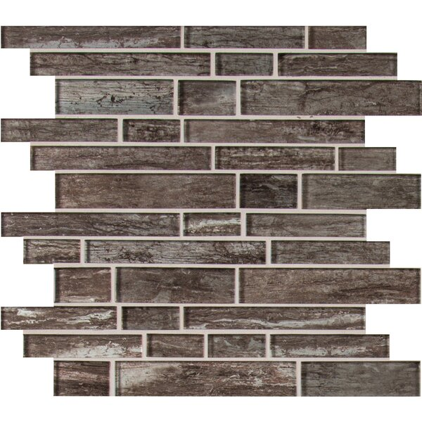 Antico Silversmith Interlocking Random Sized Glass Mosaic Tile in Gray by MSI