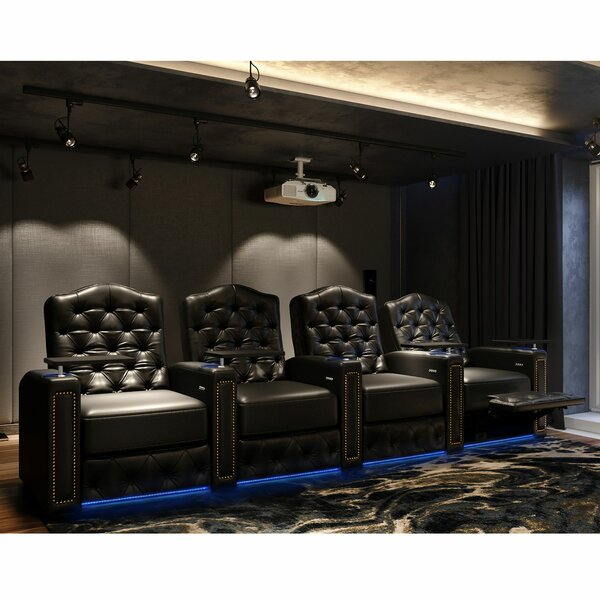 Regal HR Series Home Theater Row Seating (Row Of 4) By Winston Porter