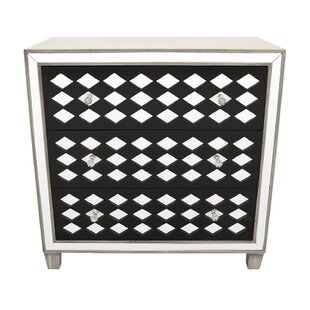 Mcgahey Wood Mirror 3 Drawer Accent Chest By Ivy Bronx