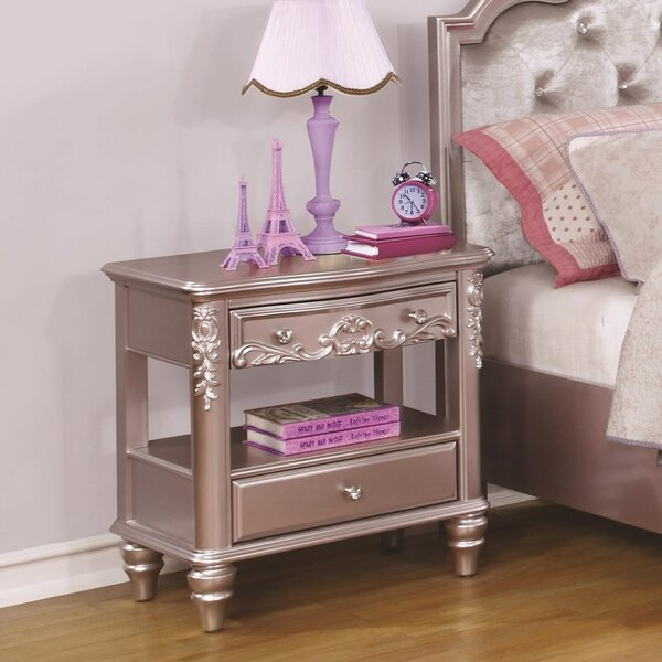 Cecere 2 Drawers Nightstand by Rosdorf Park