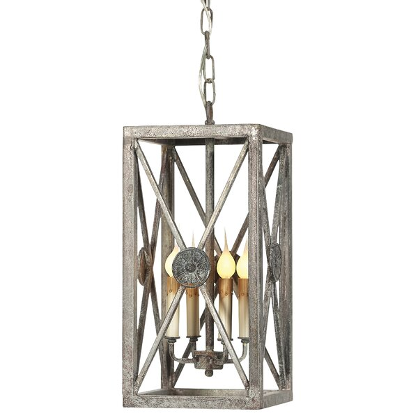 Medallion 4 - Light Candle Style Rectangle / Square Chandelier by ellahome ellahome