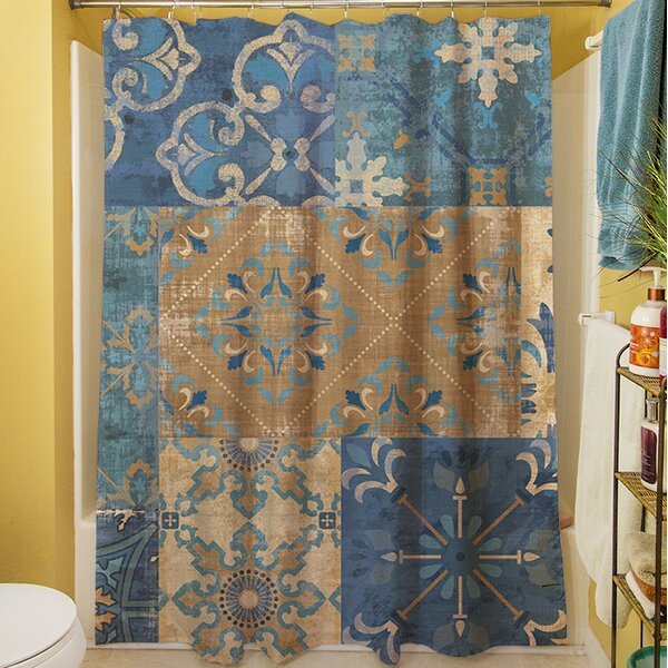 Moroccan Patchwork Shower Curtain by Manual Woodworkers & Weavers