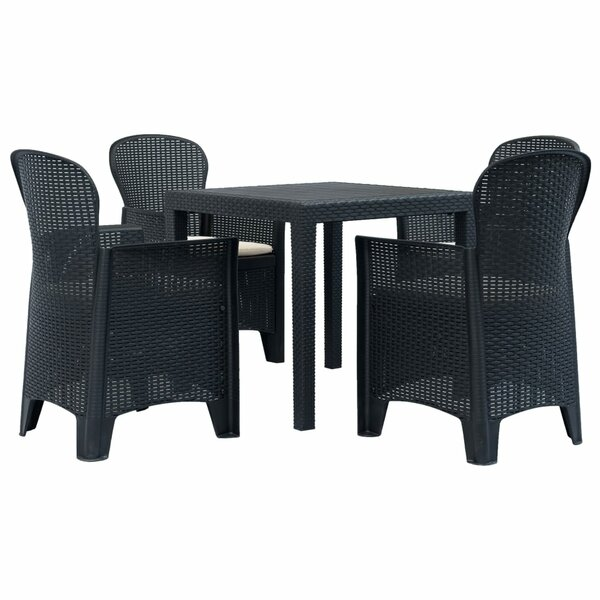 Delyth 5 Piece Dining Set with Cushions by Breakwater Bay