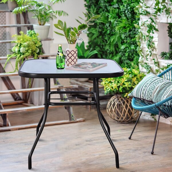 Tsaile Steel Bistro Table by Ebern Designs