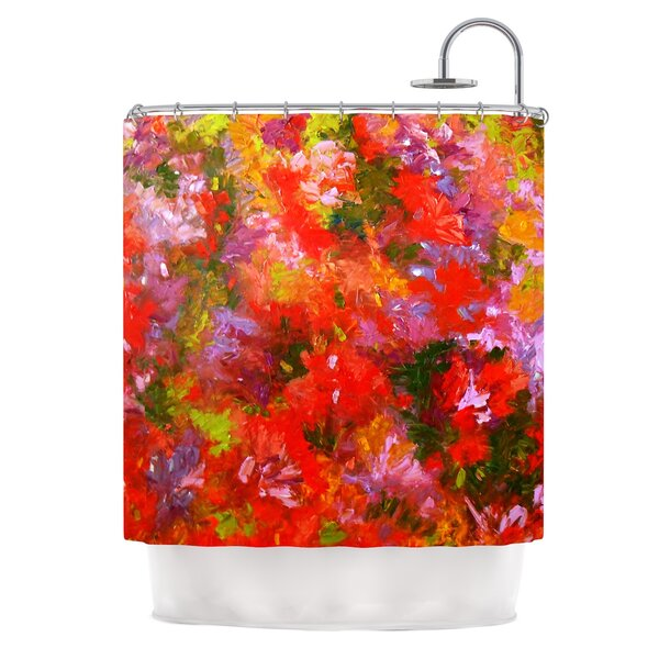 Summer Garden by Jeff Ferst Floral Painting Shower Curtain by East Urban Home