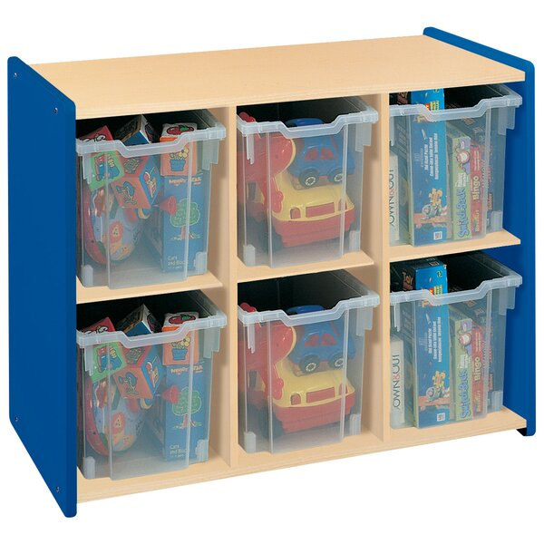 2000 Series Preschooler Extra Deep Big 6 Compartment Cubby by TotMate