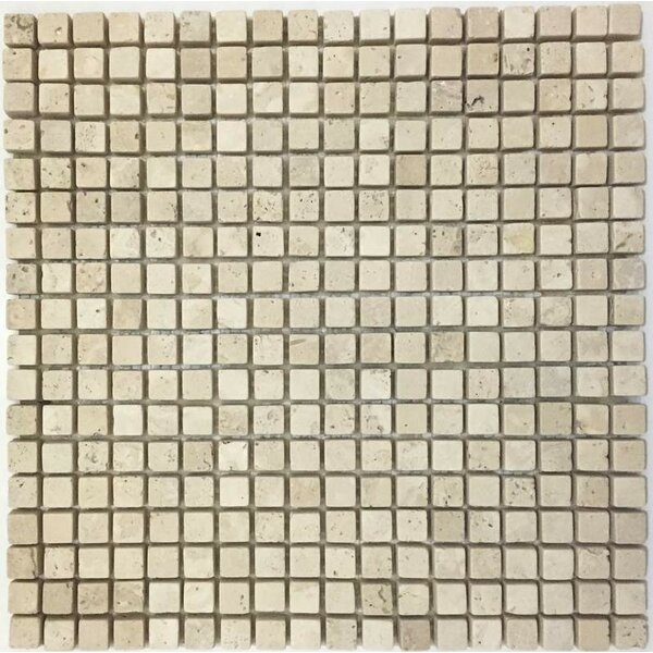 0.63 x 0.63 Mosaic Tile in Ivory by Ephesus Stones