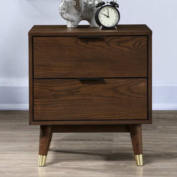 Scholz 2 Drawer Nightstand by George Oliver