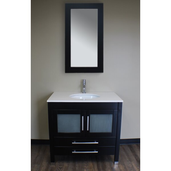 Seawell 35 Single Bathroom Vanity Set with Mirror by Latitude Run